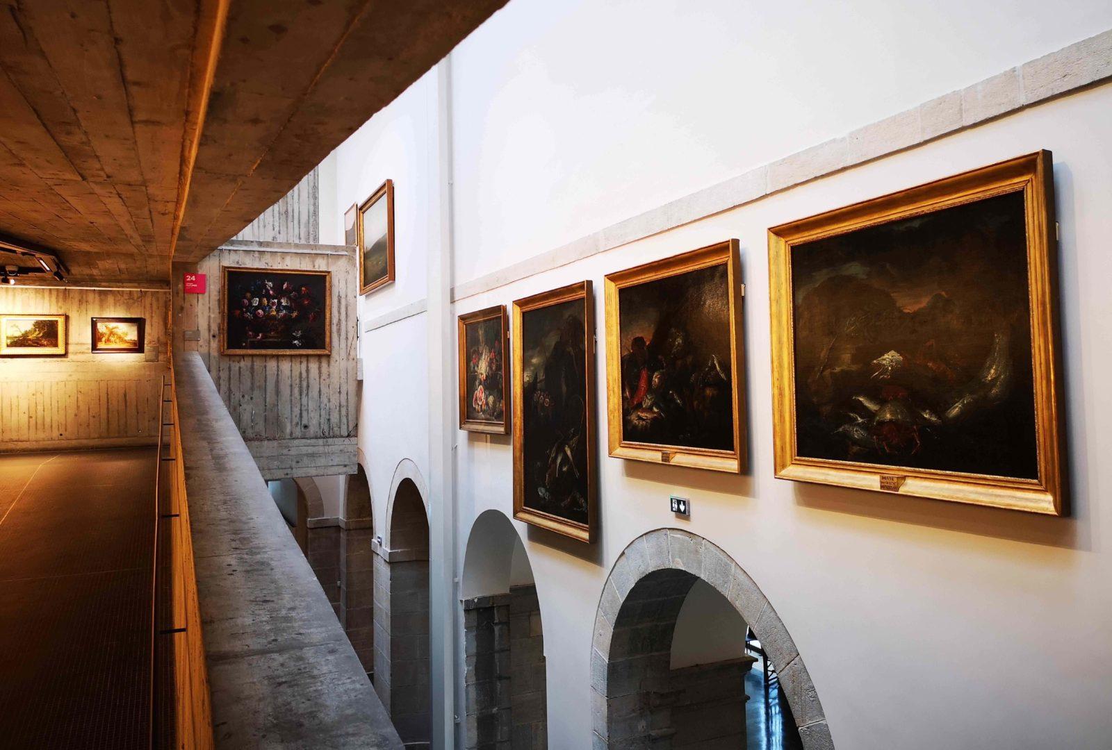 mbaa Besançon peintures vues depuis la rampe