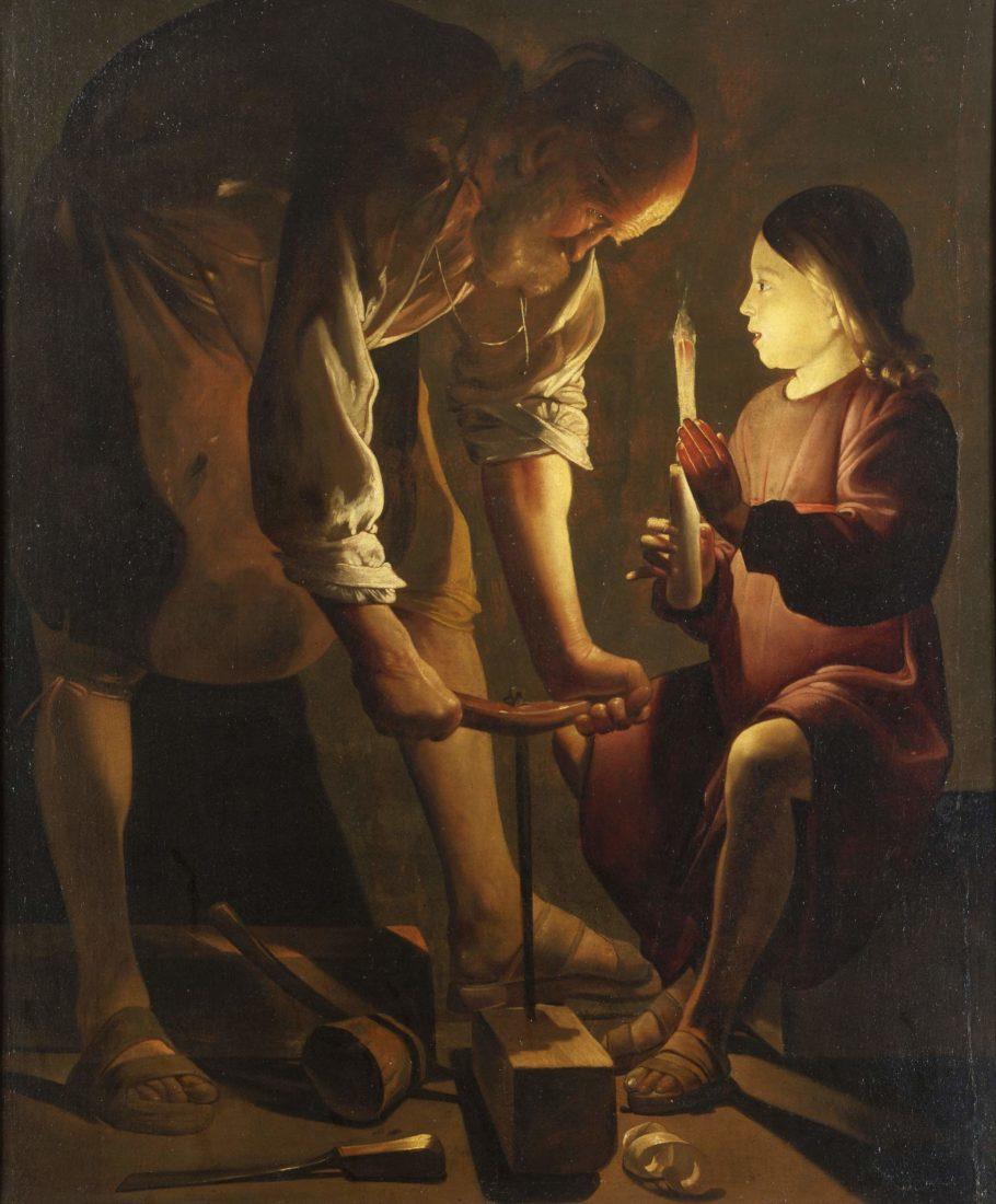 mbaa Besançon Georges DE LA TOUR, Saint Joseph charpentier