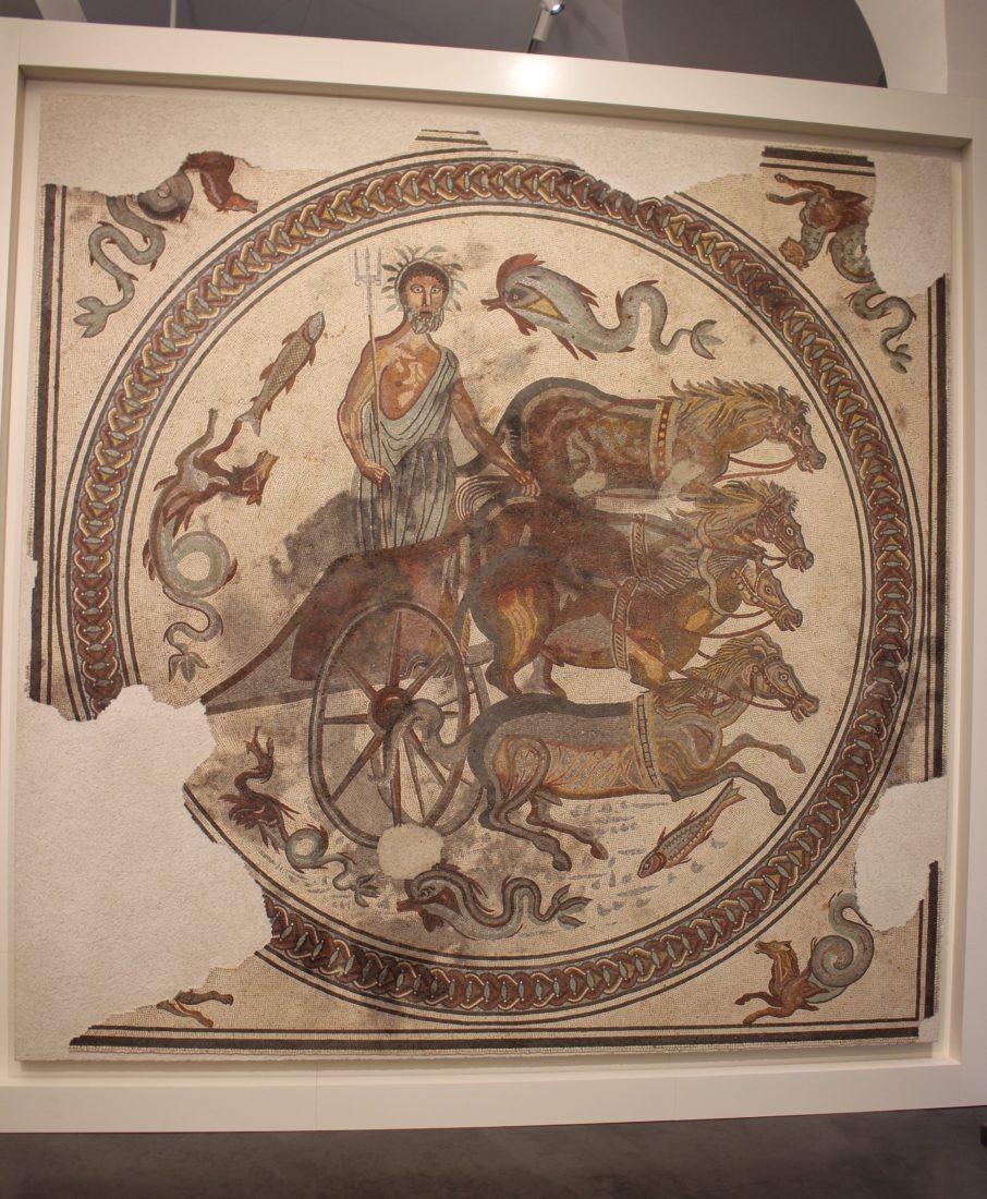 mbaa Besançon 1. Le Triomphe de Neptune, mosaïques