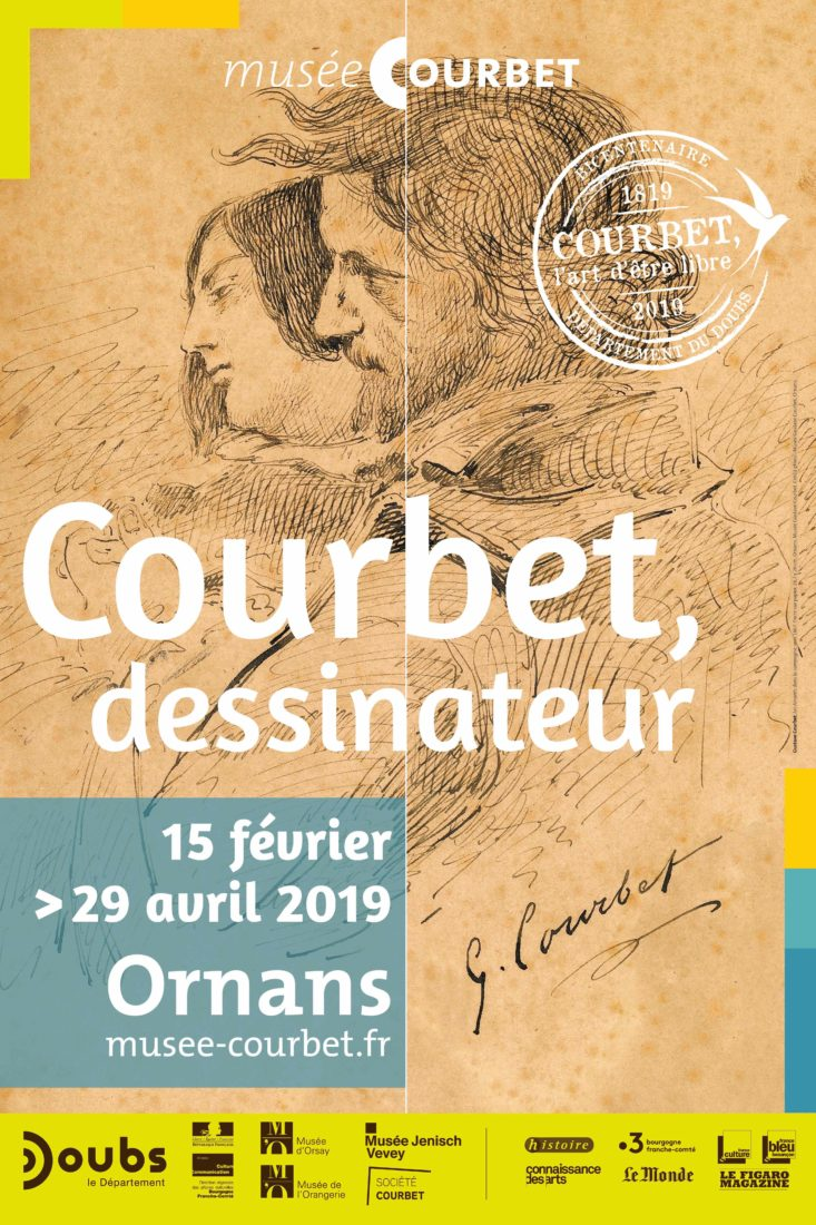 Affiche Courbet dessinateur Ornans