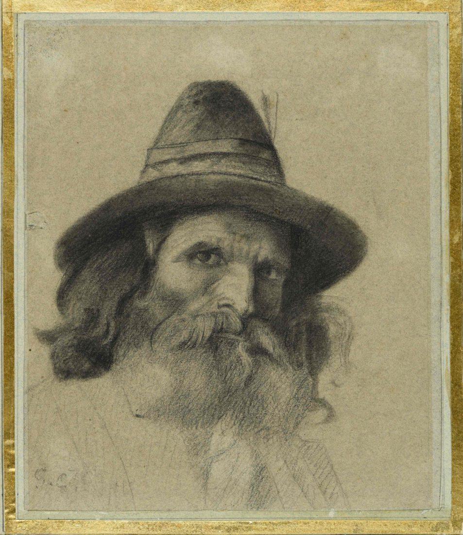 Gustave Courbet, Portrait d'un chasseur allemand