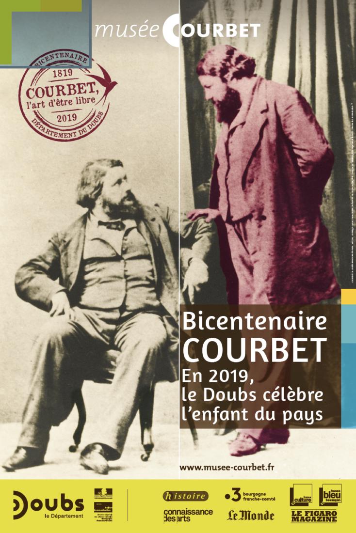 Affiche Bicentenaire Courbet Ornans