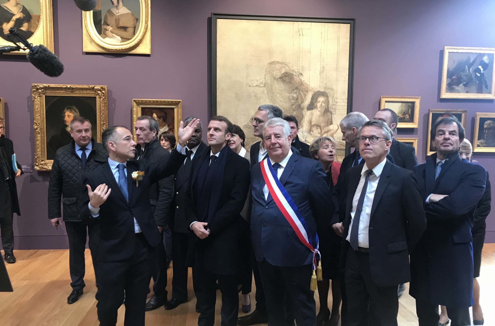 mbaa Besançon inauguration 2018 E. Macron JL Fousseret