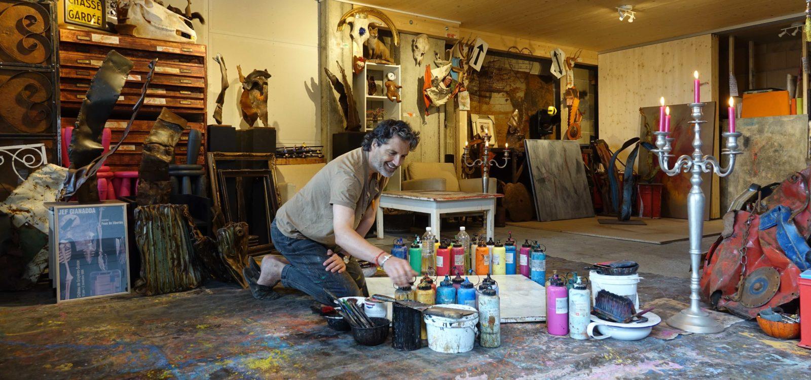 Jef Gianadda dans son atelier