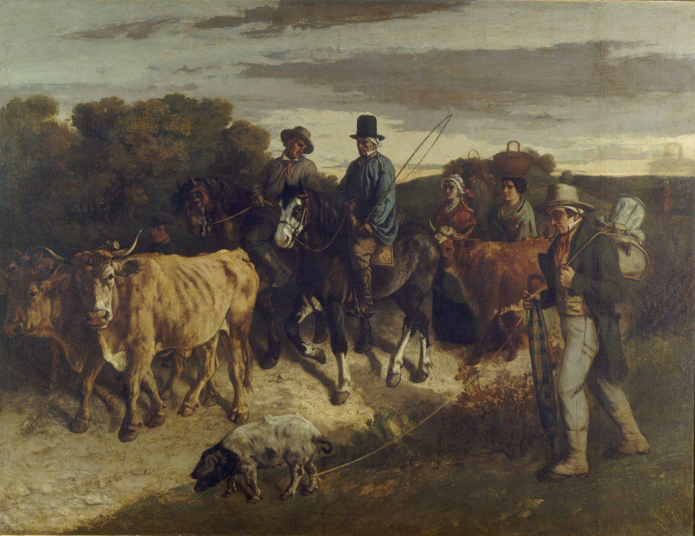 mbaa Besançon Gustave COURBET Le Retour des paysans de la foire de Flagey