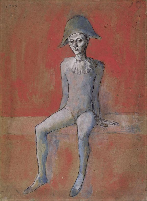Picasso Arlequin assis, 1901.