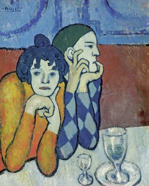 Pablo Picasso, Arlequin et sa compagne, 1901