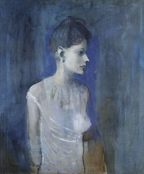 Exposition Le jeune Picasso. Période bleue et rose - Riehen. Femme en chemise (Madeleine)