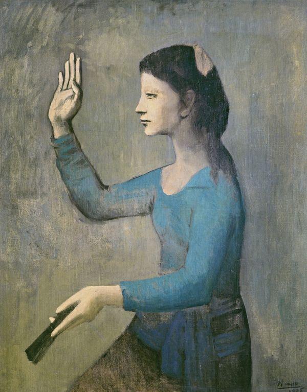 Pablo Picasso,Femme à l'éventail, 1905.