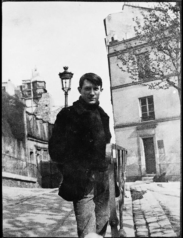 Pablo Picasso on Place Ravignan, Montmartre, Paris