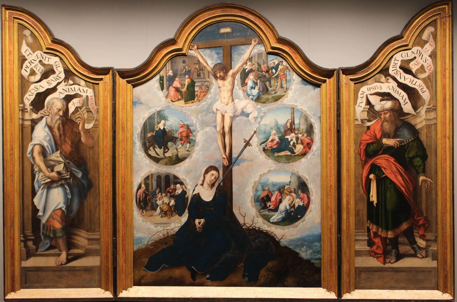 Mbaa Besançon triptyque de Notre-Dame des Sept-Douleurs