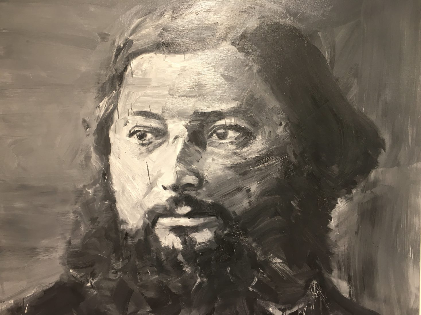 Yan Pei-Ming Courbet