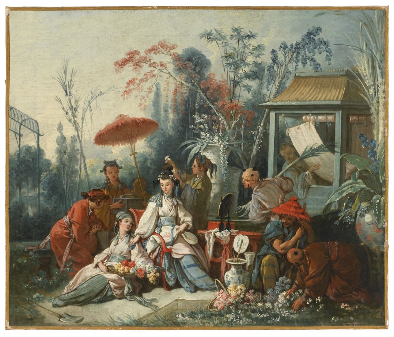 mbaa Besançon François BOUCHER, Le Jardin chinois