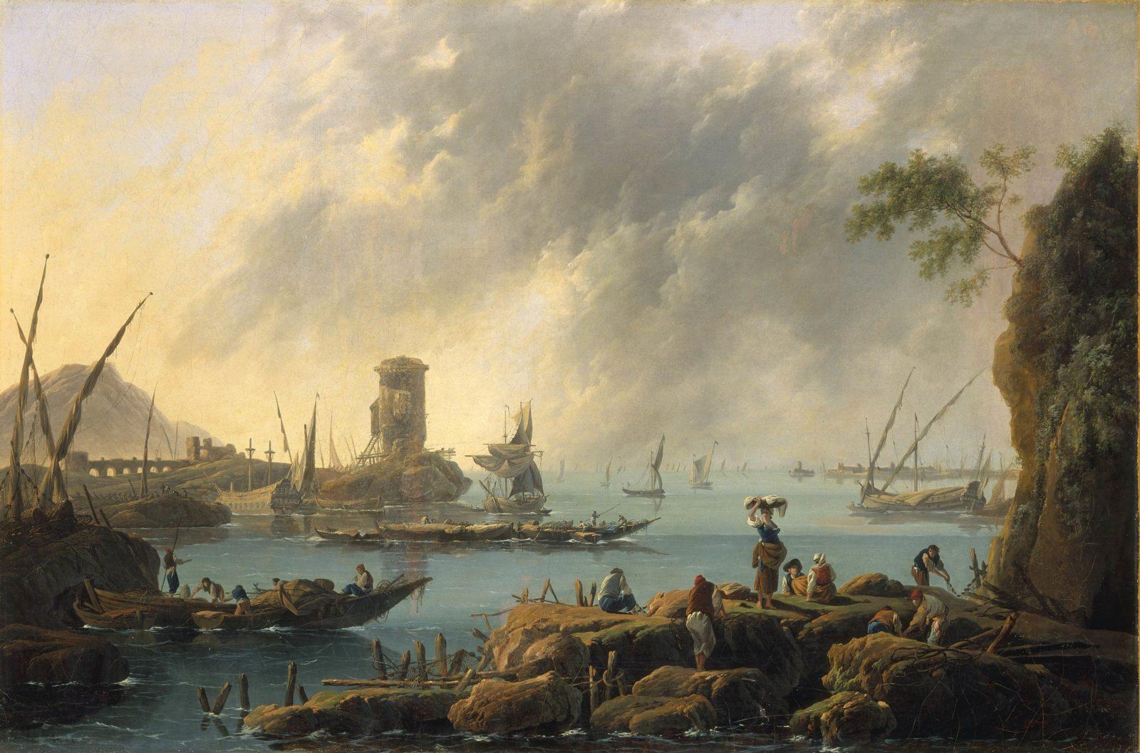mbaa Besançon Jean-Baptiste PILLEMENT, Vue d'un port