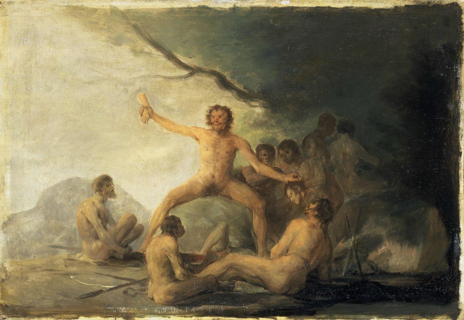 mbaa Besançon Francisco DE GOYA , Cannibales depeçant leurs victimes