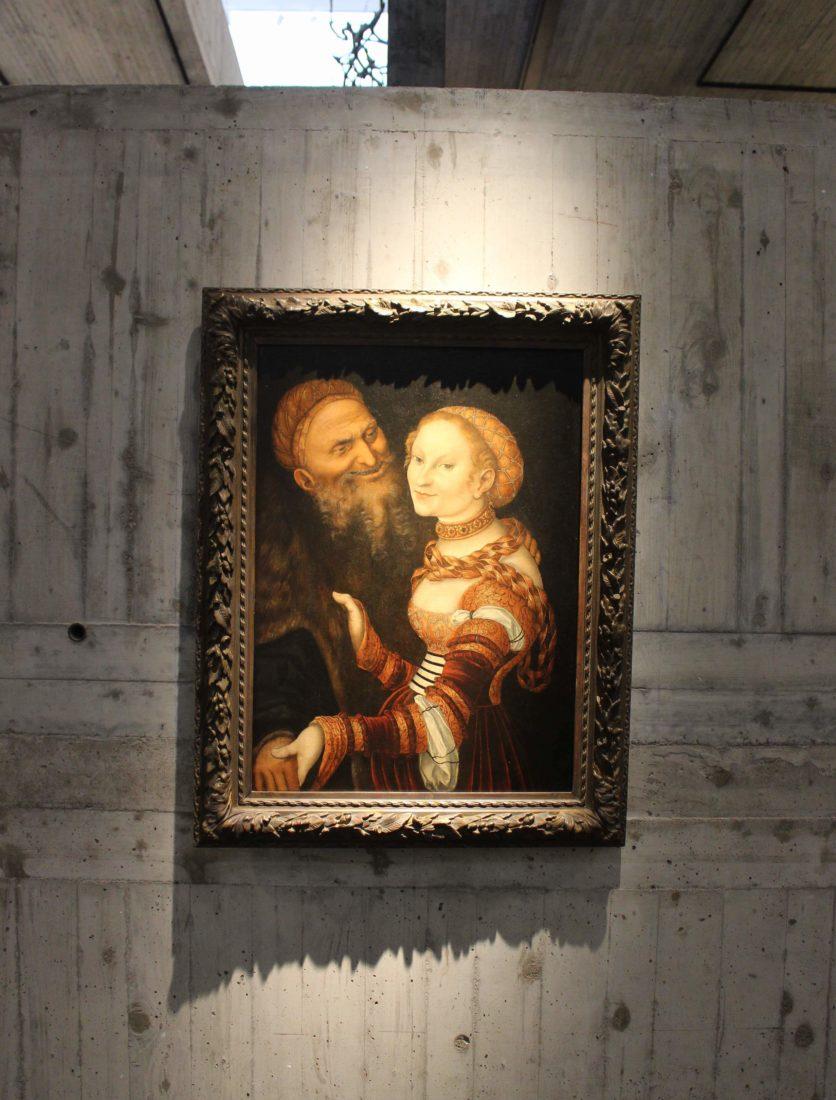 mbaa Besançon Lucas Cranach Courtisane et Vieillard