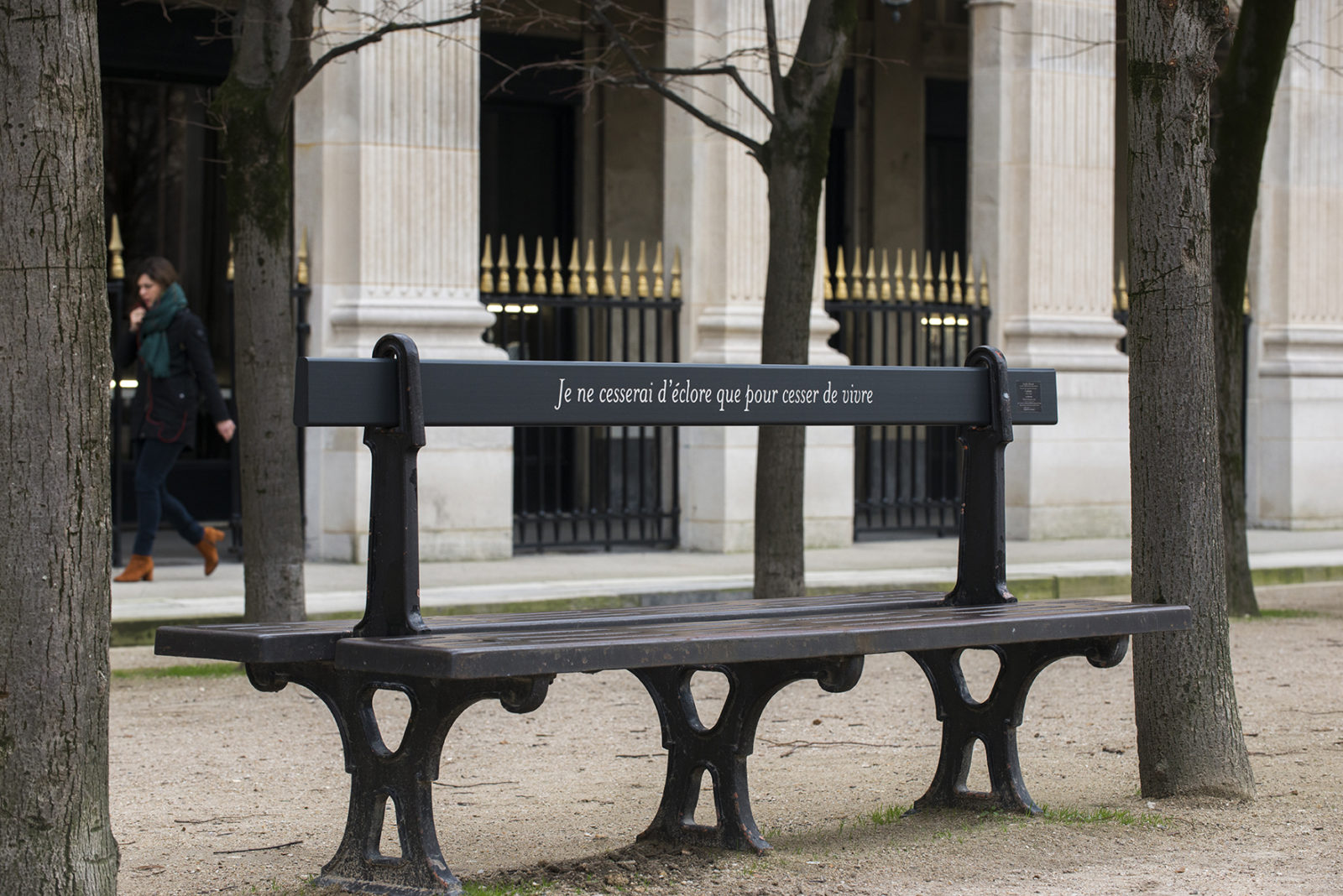 Banc avec citation de Colette Palais-Royal