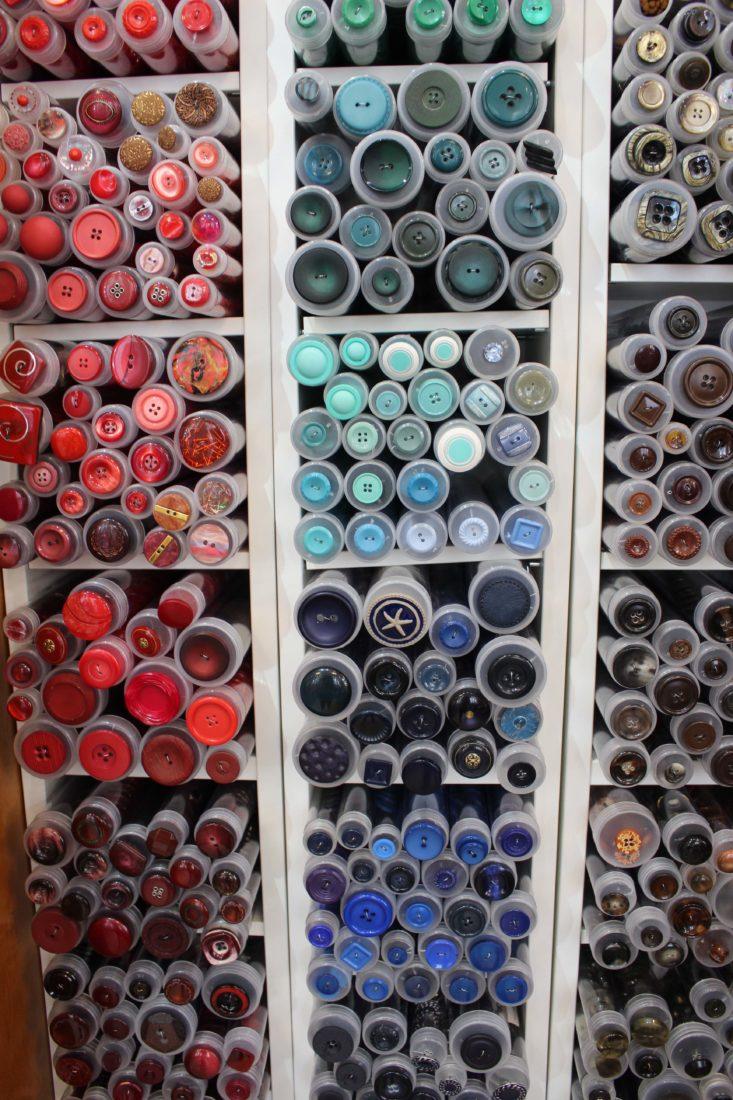 Atelier Casaquin à Lausanne cylindres de boutons