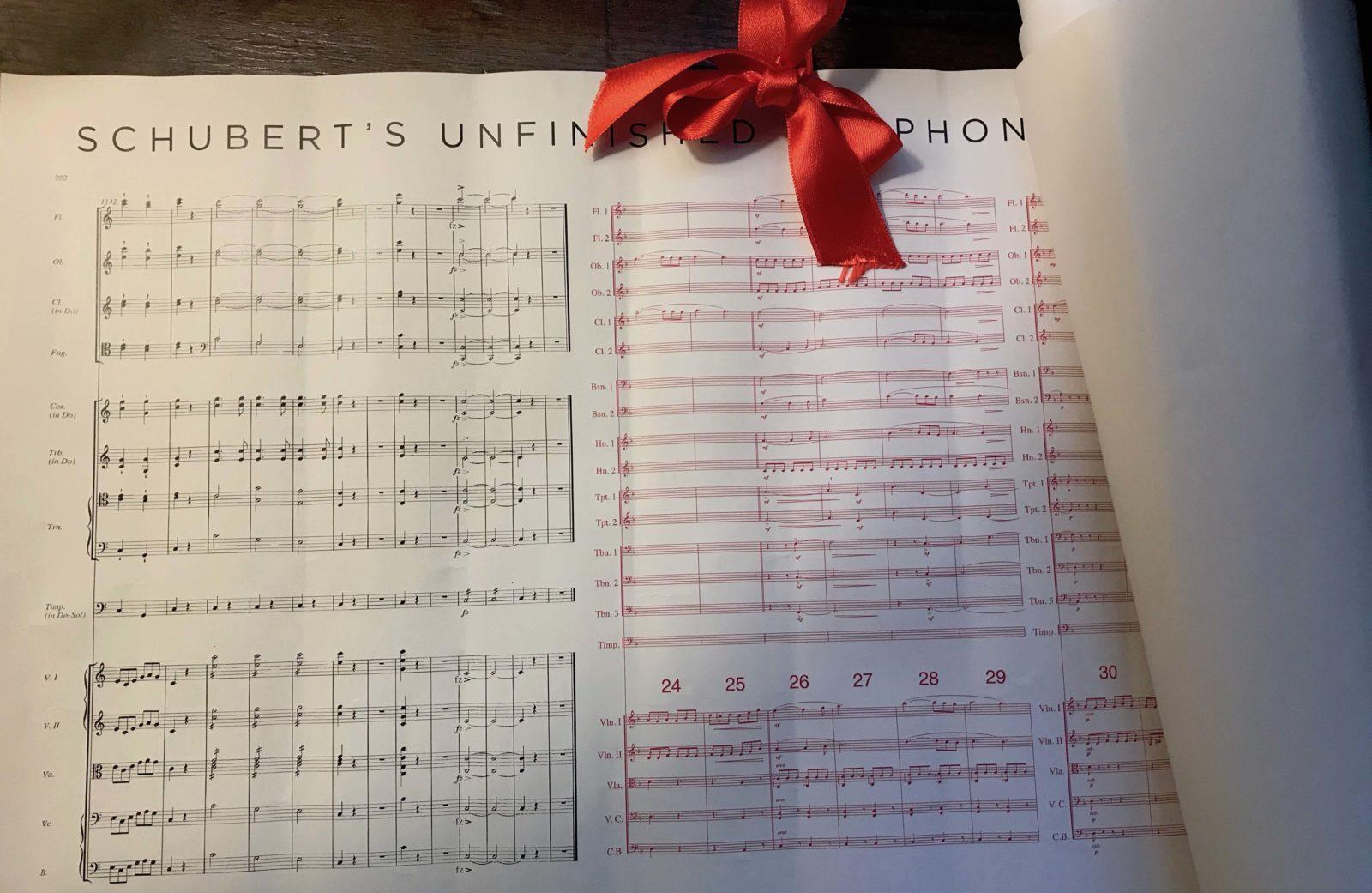 Partition Franz Schubert 8ème symphonie by Huawei