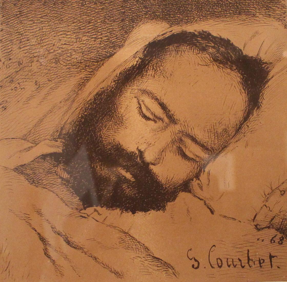 Proudhon sur son lit de mort, Gustave Courbet