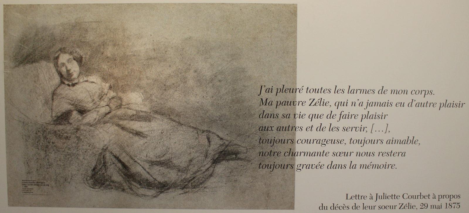 Musée Courbet Ornans Lettre à Juliette Courbet