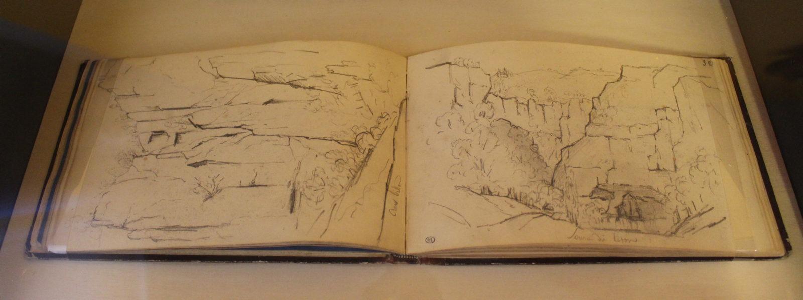 Gustave Courbet – cahier de croquis 1841 – 1844