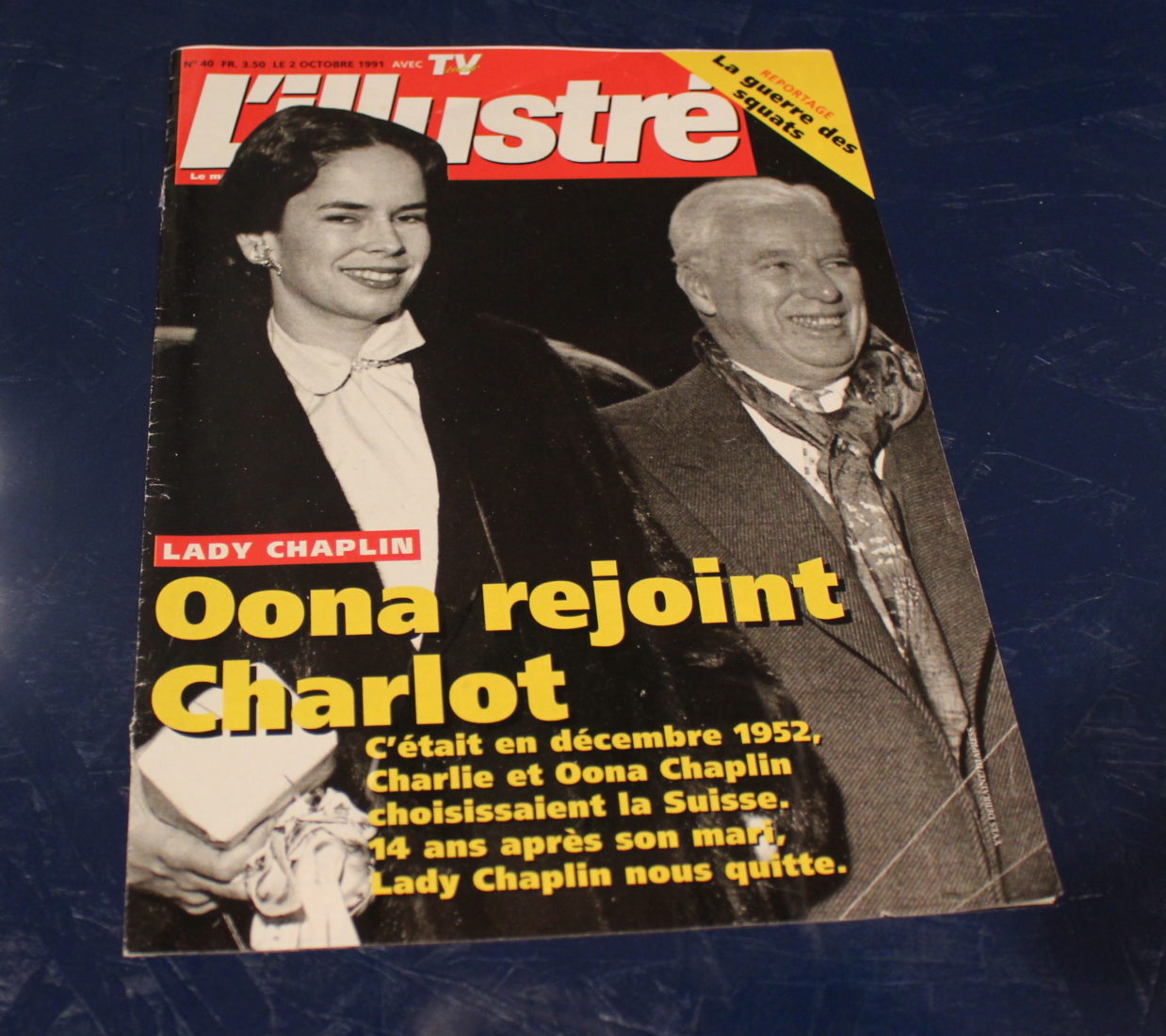 Exposition Chaplin Personal Corsier -L'illustré Yves Debraine