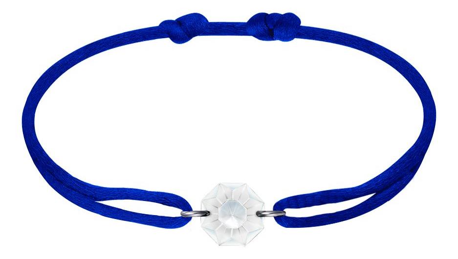MV Vessiere Baccarat bracelet bleu cristal blanc