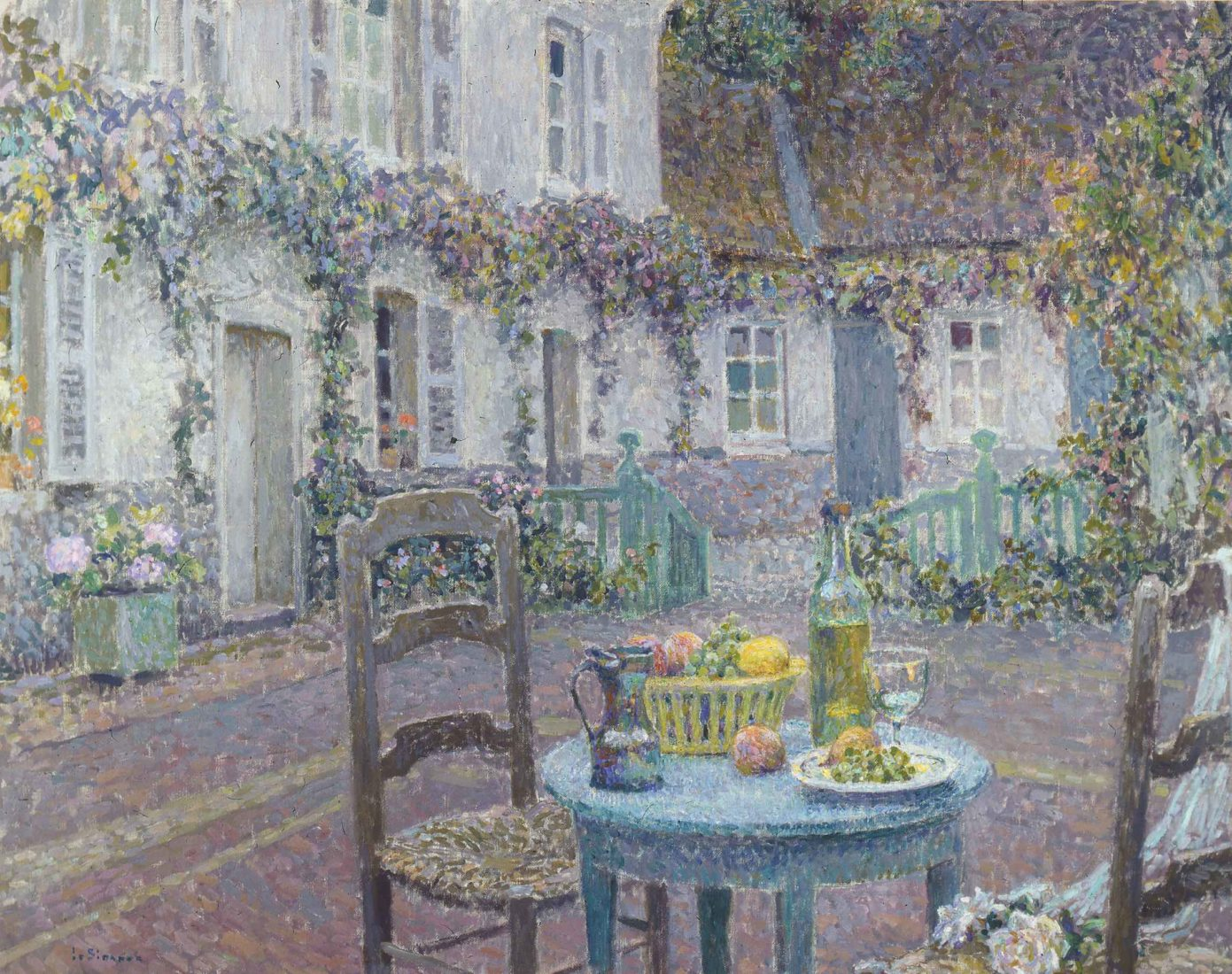 Henri Le Sidaner La Table bleue., Gerberoy