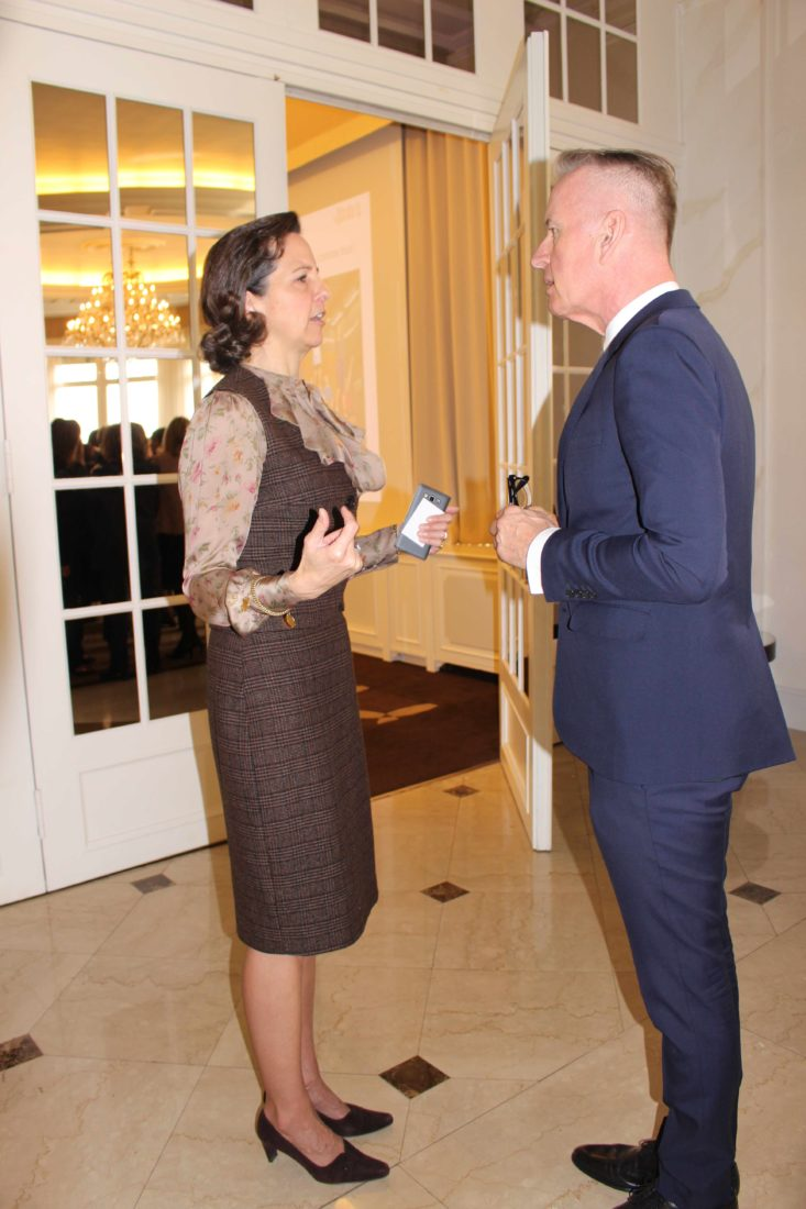 Ivan Rivier, directeur général du LausannePalace et Abigael de Buys Roessingh