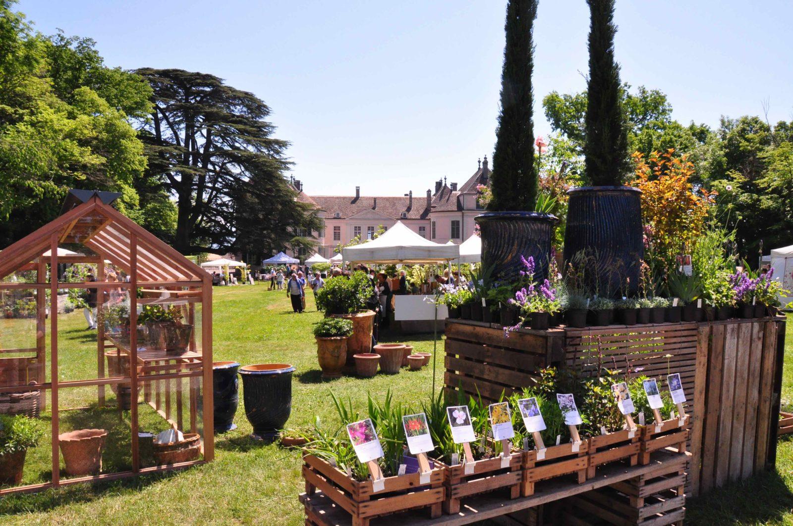 Château de Coppet légumes et fleurs Jardins en Fête 2019
