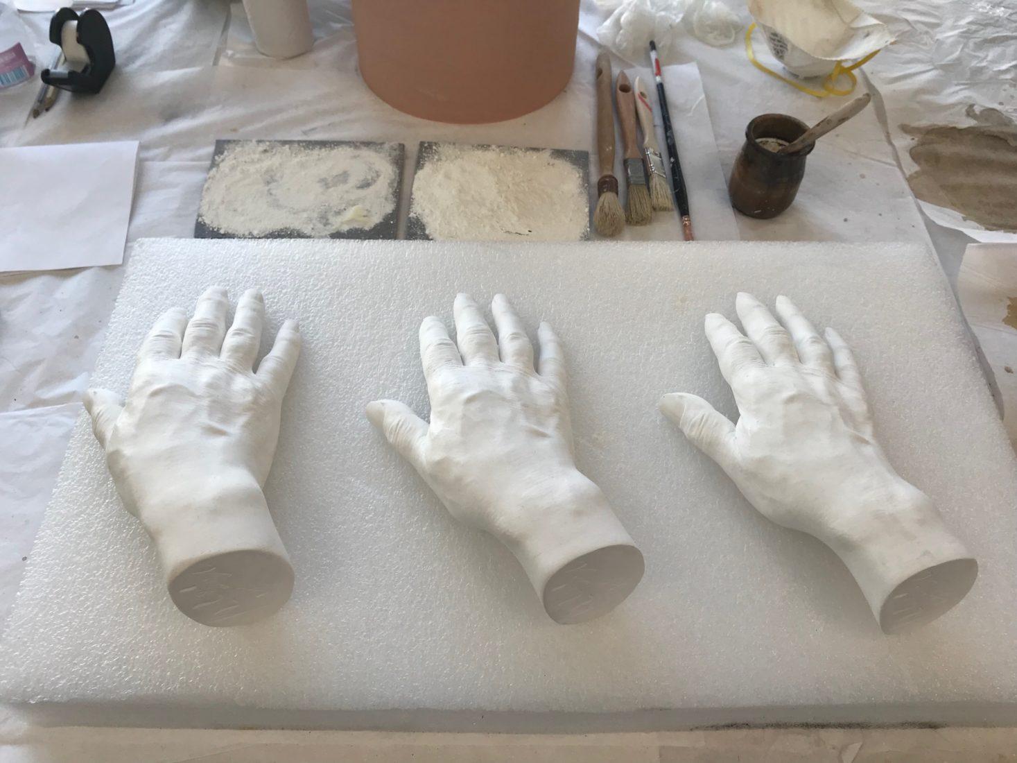 Besançon atelier de moulage - la main de Victor Hugo