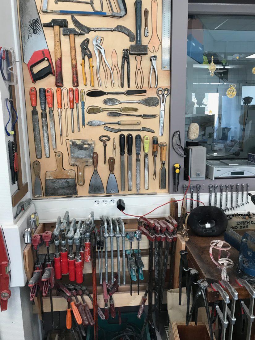 Besançon atelier de moulage - les outils