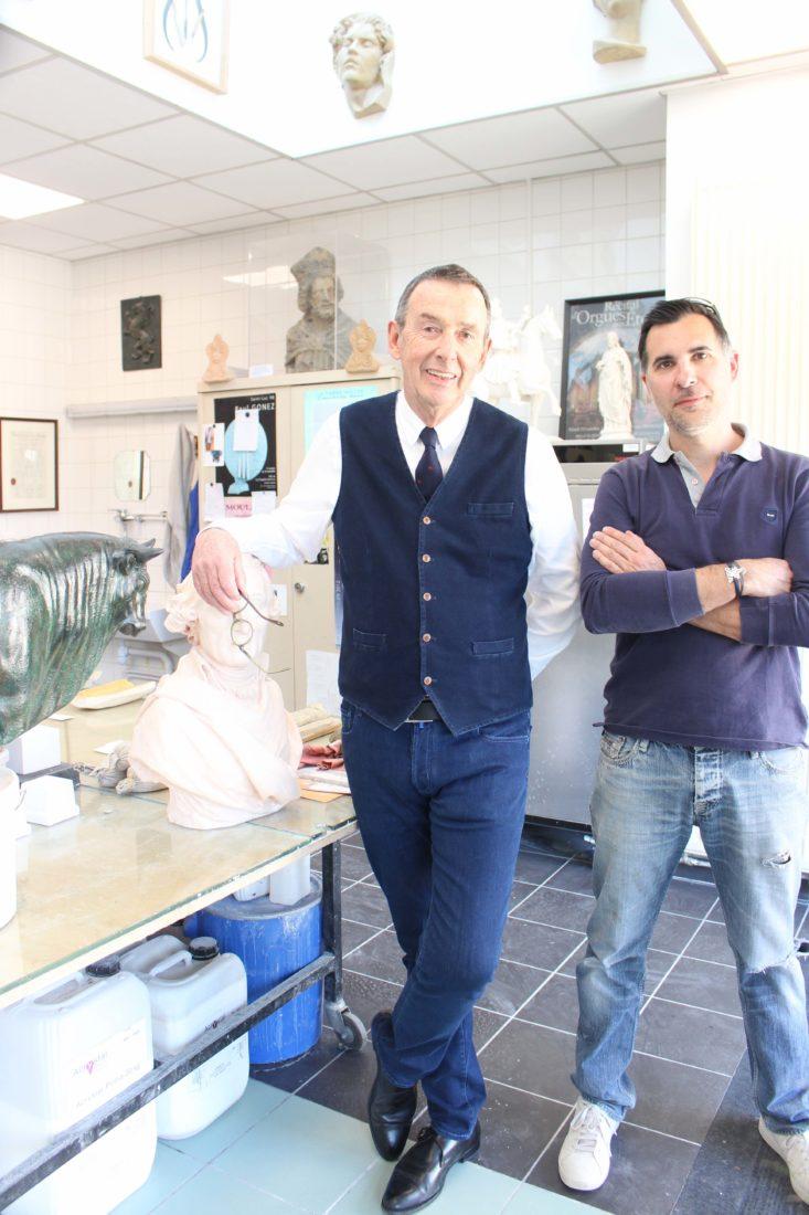 Besançon atelier de moulage Lionel Estavoyer et Alexandre Rioton