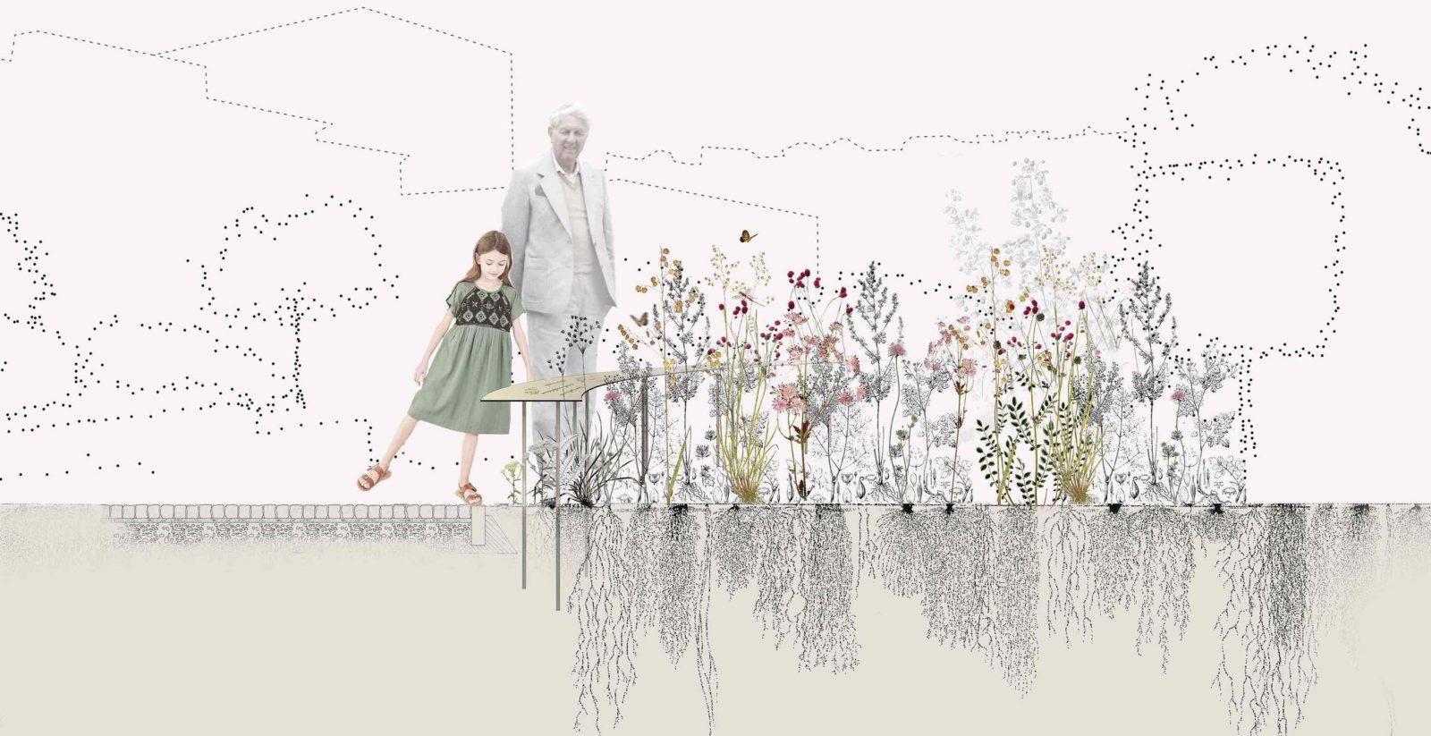 Lausanne jardins 2019 La Grande Pimprenelle détail