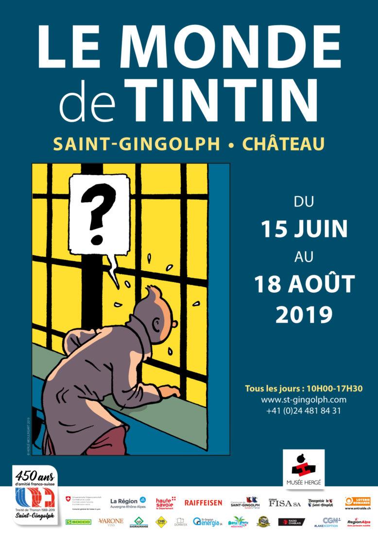 Affiche le monde de Tintin -saint-gingolph château