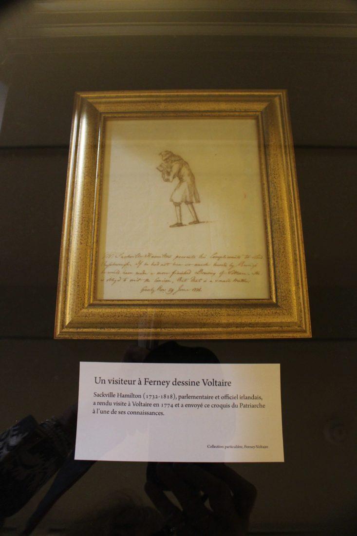 Voltaire chez lui Un visiteur dessine Voltaire