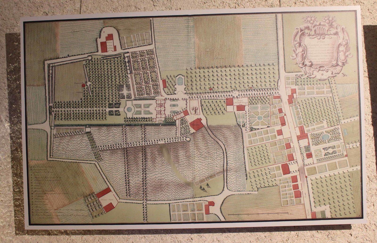 Voltaire chez lui Plan du château de Ferney