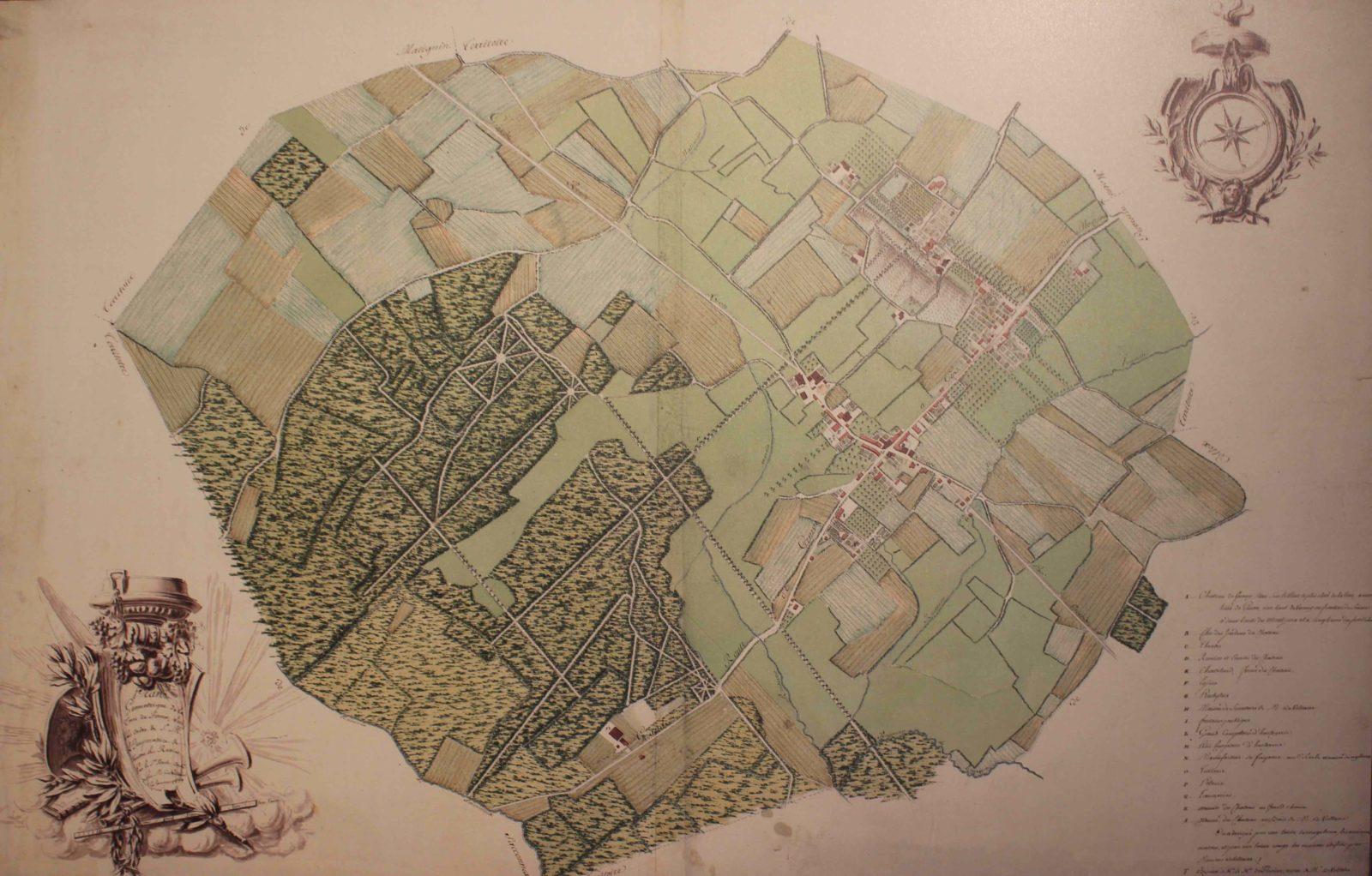 Voltaire chez lui Plan des terres du château de Ferney