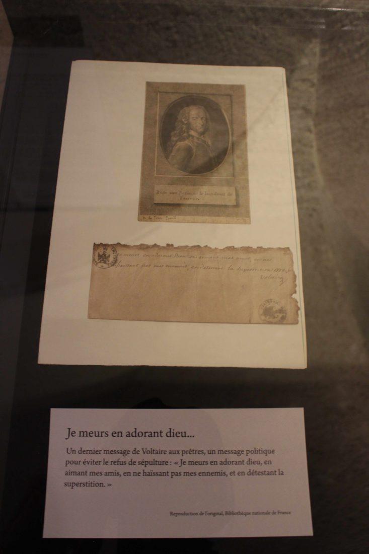 Voltaire chez lui Dernier message de Voltaire