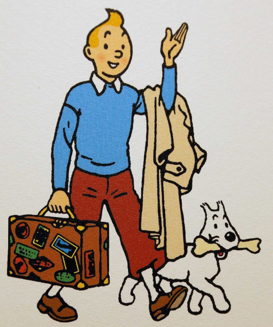 Tintin illustration bandeau journal 1946