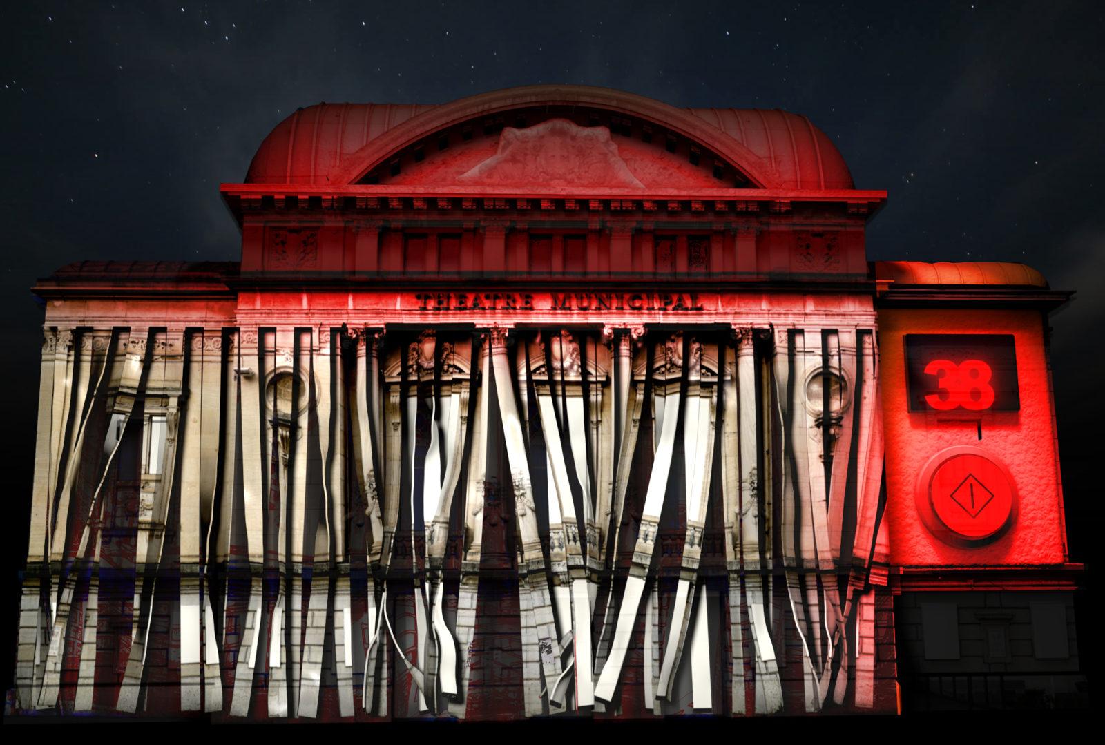 Bourg en Bresse théâtre rouge couleurs d'amour