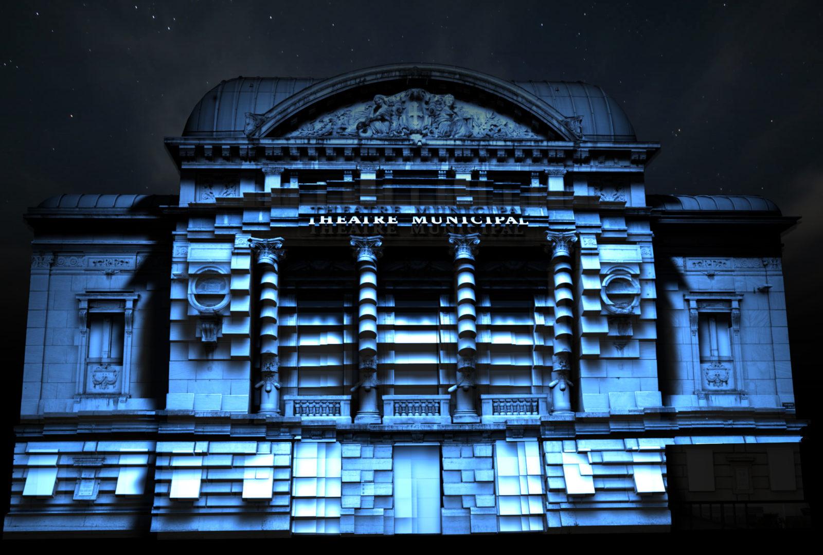 Bourg en Bresse théâtre bleu couleurs d'amour