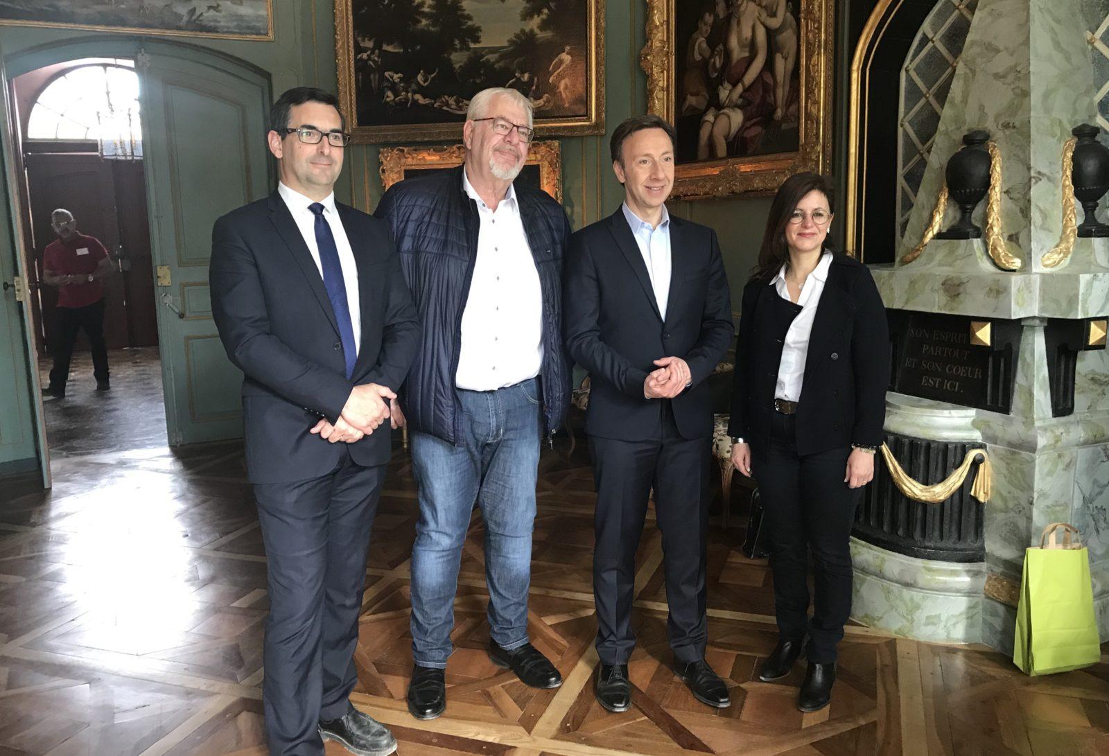 Stephane Bern, Daniel Raphoz, François-Xavier Verger,Andrew Brown
