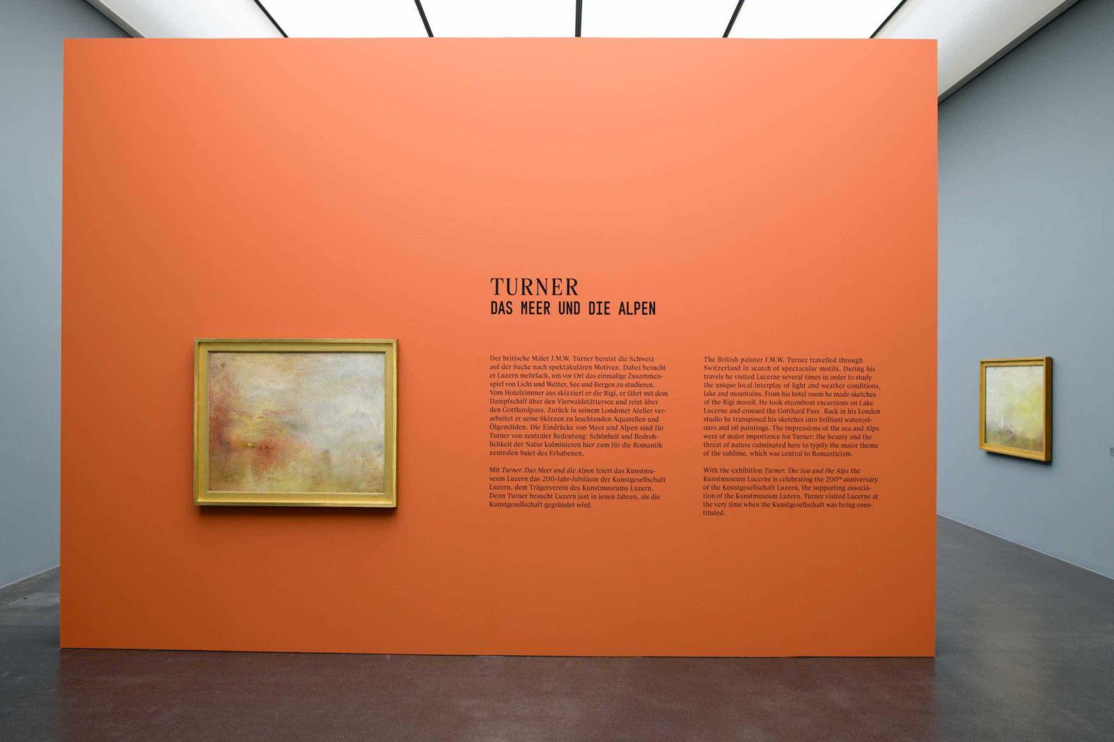 Turner. Das Meer und die Alpen entrée musée Lucerne