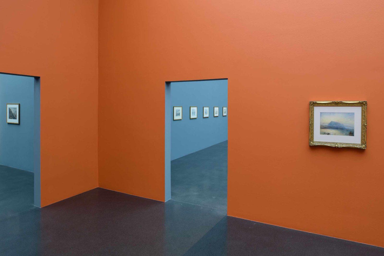 Turner. Das Meer und die Alpen Vue tableaux musée Lucerne