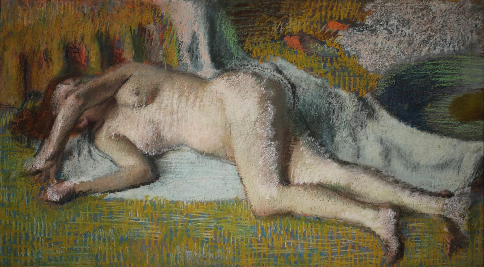 Le cannet EdgarDegas,Après le bain (femme nue couchée)