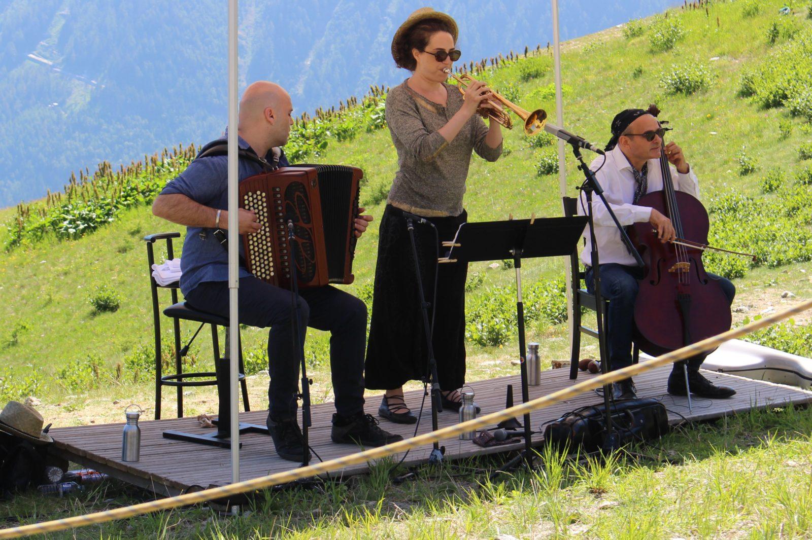 Cosmojazz Chamonix 2019 trio Gardel à Plan Praz