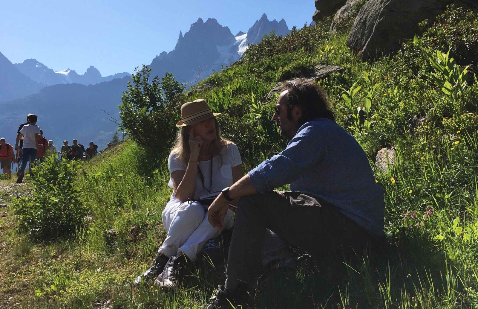Cosmojazz Chamonix 2019 Manoukian et françoyse Krier Plan Praz