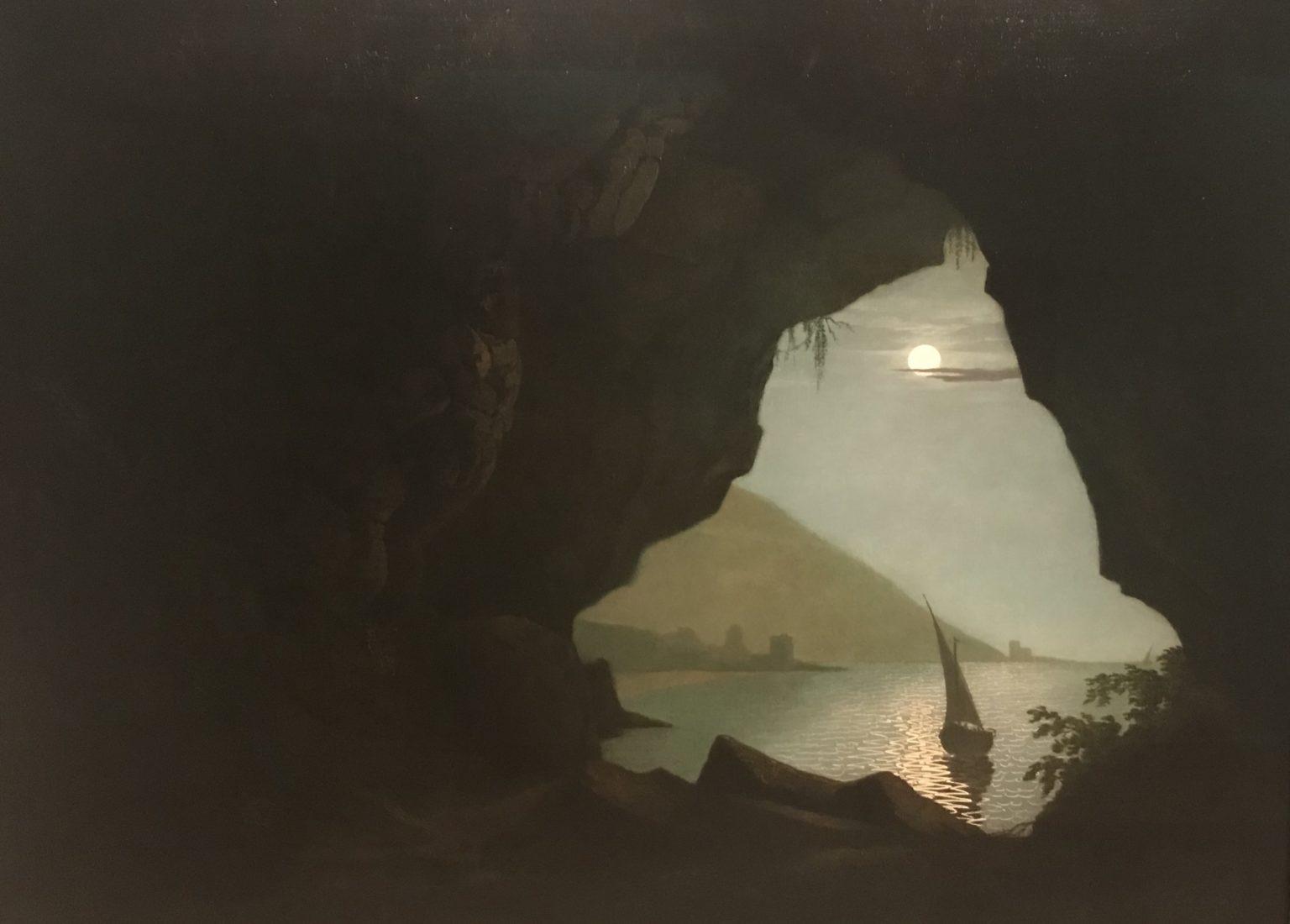 Joseph Wright of Derby grotte dans le golfe de Salerna